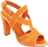Sergio Rossi Piped Stylized Band Slingback Sandal