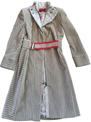 Carolina Herrera Beige Cotton Coat for Women