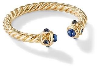 David Yurman Renaissance Open Ring In 18K Gold With Gemstones