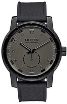 Nixon Men's 'The Patriot' Leather Strap Watch, 45Mm
