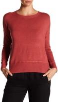 Eileen Fisher Crew Neck Drop Shoulder Pullover Sweater