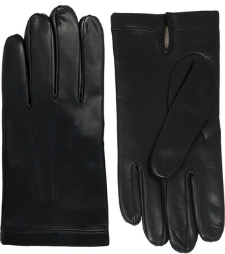 NICOLETTA ROSI Men's Cashmere Lined Lambskin Leather Gloves