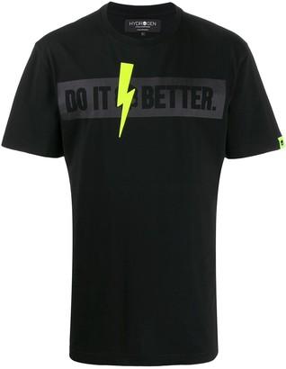 Hydrogen slogan print crew neck T-shirt
