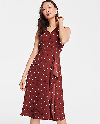 Ann Taylor Petite Polka Dot Wrap Dress