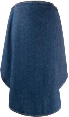 MM6 MAISON MARGIELA Curved-Front Denim Skirt