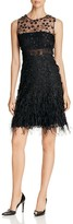 Elie Tahari Anabelle Feather Lace Dress