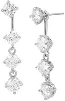 Betsey Johnson Betsey Blue Crystal Front Back Earrings