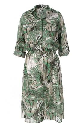 Aggi Feride Beige-Green Dress