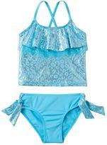 Pink Platinum Girls 4-6x Cheetah Print Tankini & Scoop Bottoms Swimsuit Set