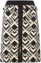 Dorothy Perkins **Tall Blush Geometric Print A-Line Skirt