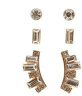 Charlotte Russe Stud & Front-Back Earrings - 3 Pack