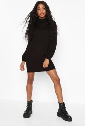 boohoo Turtleneck Blouson Sleeve Sweater Dress