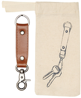 John Lewis Leather Keyring, Brown