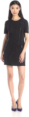 BCBGMAXAZRIA Azria Women's Heather Blocked Dress with Zipper