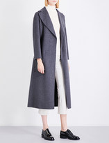 S Max Mara Double-faced wrapped wool coat