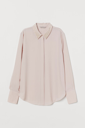 H&M Bead-embellished Blouse