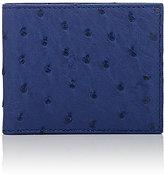 Barneys New York Men's Ostrich Billfold-BLUE