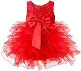 Kobwa(TM) Girls Baby Flower Bowknot Wedding Party Princess Dress with Kobwa's Keyring