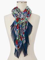 Talbots Field of Flowers Scarf
