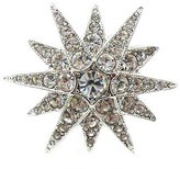 Kenneth Jay Lane Silver & Crystal Starburst Ring