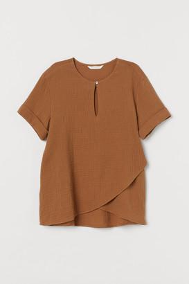 H&M MAMA Cotton nursing blouse