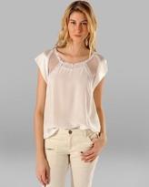Maje Shirt - Clara with Mesh Sleeves