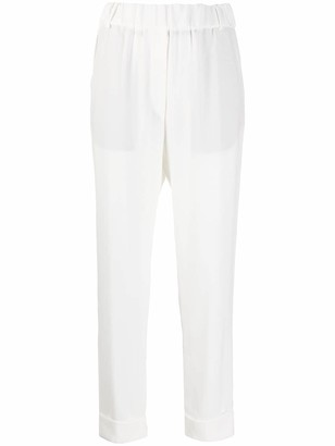 Brag Wette Tapered Turned Up Hem Trousers