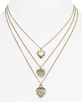 Aqua Naya Tri-Heart Layered Necklace, 15-18 - 100% Exclusive