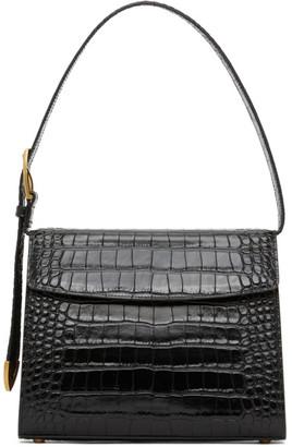 Balenciaga Black Medium Croc Ghost Bag