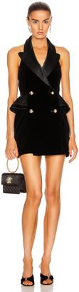 Marianna SENCHINA Open Back Jacket Dress in Black   FWRD