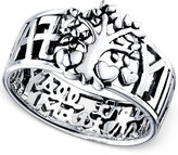 Unwritten F-A-M-I-L-Y Tree Message Ring in Sterling Silver