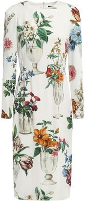 Dolce & Gabbana Floral-print Silk-blend Charmeuse Dress