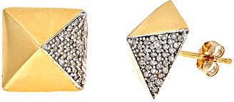 Forever Creations Usa Inc. Forever Creations 14K 0.25 Ct. Tw. Diamond Pyramid Studs