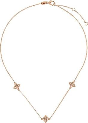 Roberto Coin 18kt yellow gold Princess Flower diamond necklace