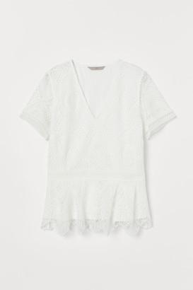 H&M V-neck lace top