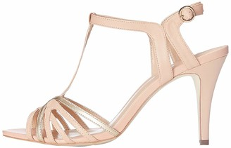Find. Mid-heel Womens T-Bar Sandals Multicolour (Peach/ Rose Gold) 6 UK (39 EU)