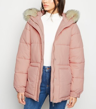 New Look Belted Puffer Jacket