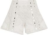 Jonathan Simkhai Mirror Cotton Slit Shorts