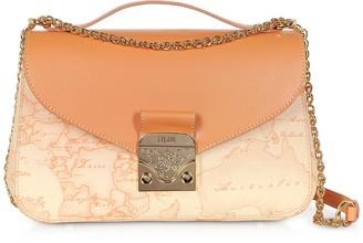 Alviero Martini Jolie Coated Canvas & Leather Shoulder Bag
