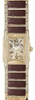 Alviero Martini Prima Classe Women's PCD 787/1VV Gold PVD Rectangular Geo-Design Crystal Watch