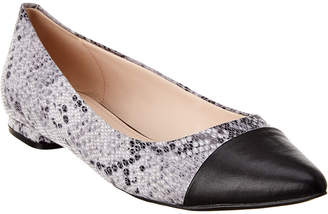 Tahari Oliana Leather Flat