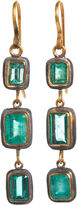 Judy Geib Emerald Square Earrings