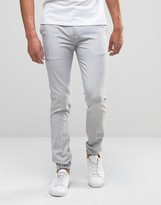 Asos Super Skinny Smart Joggers In Pale Grey