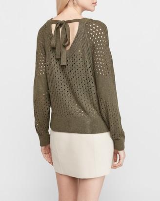 Express Open Stitch Tie Back Sweater