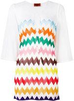 Missoni zig-zag print sheer dress