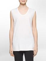 Calvin Klein Platinum Lightweight Stretch Scoopneck Tank Top