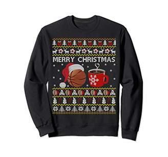 Basketball Coffee Ugly Christmas Sweater Men Women Funny Sweatshirt