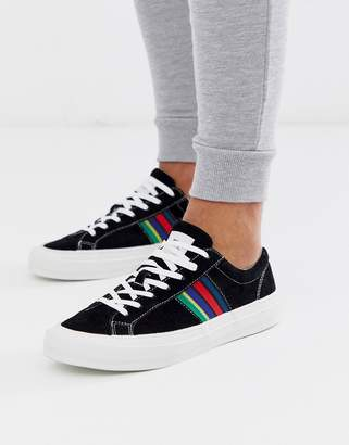 Paul Smith Antilla suede trainers with stripe detail in black