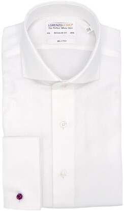 Lorenzo Uomo Basketweave French Cuff Regular Fit Dress Shirt