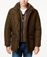 Weatherproof Men's Faux-Fur-Collar Layered Parka